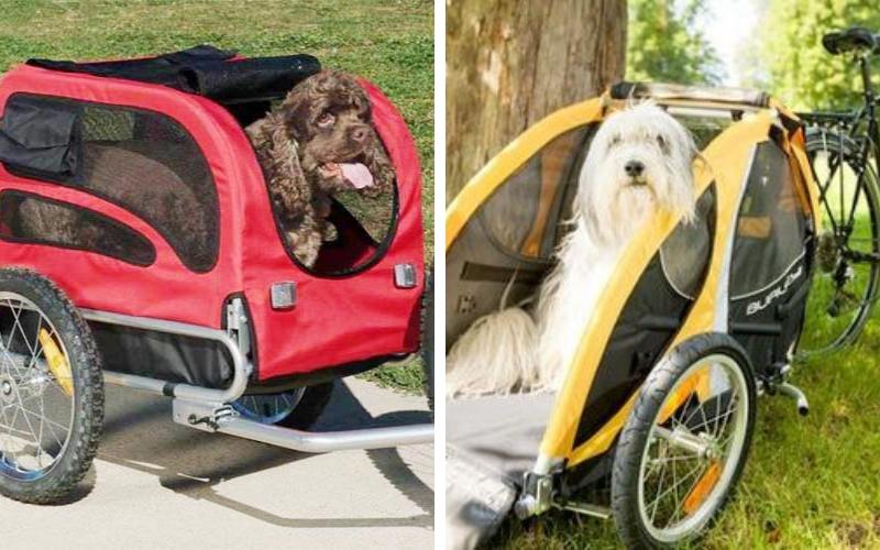 carrito de paseo para perro bici